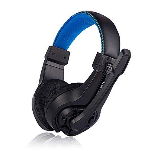 ajzdnzvr G1 Gaming Headset Over-Ear Gaming Kopfhörer mit faltbarem Rauschunterdrückung Mikrofon Stereo Bass blau blau G1 Stereo
