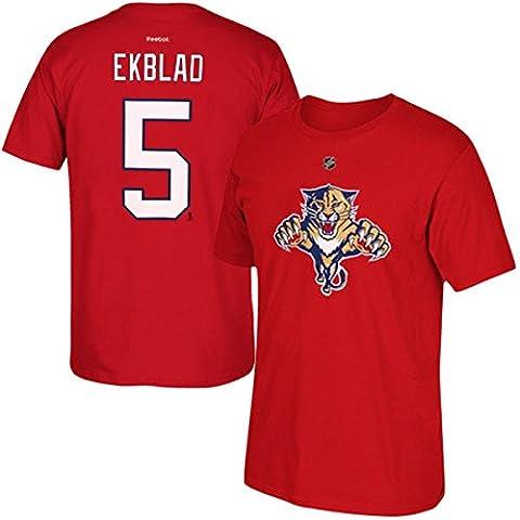 Reebok Panthers de la Floride Aaron Ekblad NHL Player T-shirt pour homme Rouge S