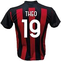 DND Di D'Andolfo Ciro Maglia Calcio Theo Hernández 19 A.C. Milan Replica autorizzata 2020-2021 Taglie da Bambino e Adulto (12 Anni)