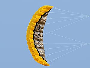 parapente: Huya Force 2.5m de Doble Línea de Cometas Parafoil Stunt con la Manija 30 m de C...