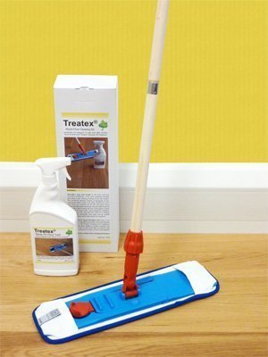 Treatex Wood Floor Cleaning Kit. Microfibre Mop, Handle, & 1Litre Floor care. by Treatex