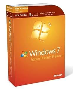 windows 7 dition familiale premium mise jour depuis xp ou vista 3 postes. Black Bedroom Furniture Sets. Home Design Ideas