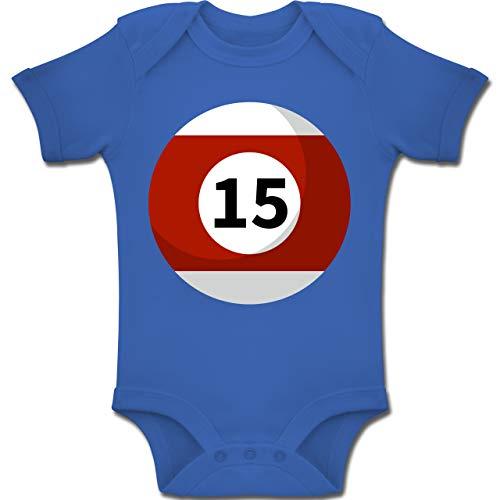 Kostüm Sich Paare Tun Es - Shirtracer Karneval und Fasching Baby - Billardkugel 15 Kostüm - 6-12 Monate - Royalblau - BZ10 - Baby Body Kurzarm Jungen Mädchen