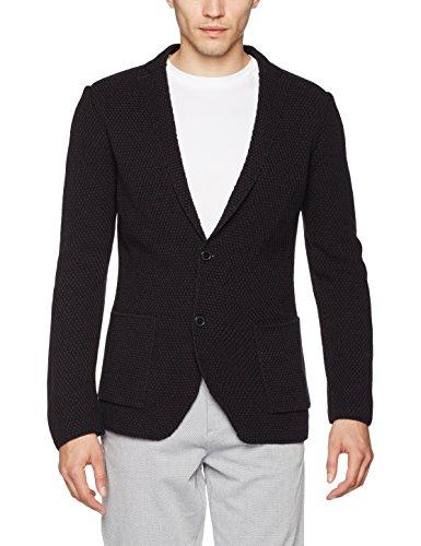 Selected Shdonecurtknit Blazer, Veste de Costume Homme Bleu (Dark Navy Dark Navy)