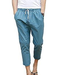 CX-Store Hombres Pantalones De Harén Hippie De Algodón Boho De Los Con Bolsillos Diseño De La Pintura Rupestre