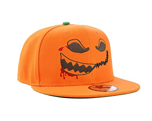 Halloween Scary orange Kürbis Snapback Baseball - Baseball-halloween-outfit