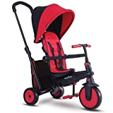 smarTrike smarTfold 300 Plus Folding Baby Tricycle for 1 Year Old, Red