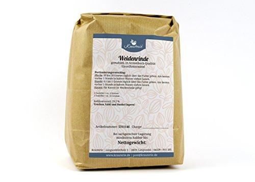Weiden-Rinde gemahlen in hochwertiger Qualität, frei von jeglichen Zusätzen, für Pferde und Hunde (Salicis cortex) – 500 g (Rinde Frei)