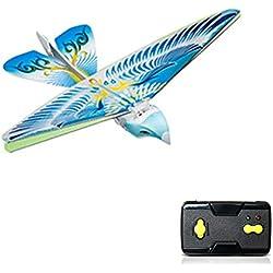 LYCOS3 - Mando a Distancia para pájaros voladores, Mamum Bird Drone 2,4 GH con Mando a Distancia, Juguete para Mini dron, Azul, Tamaño Libre