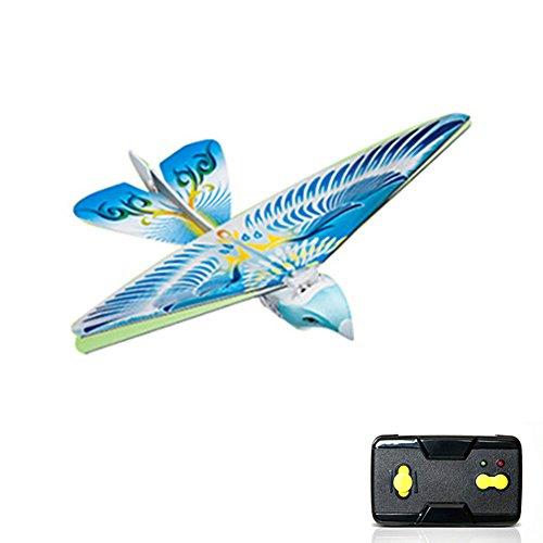 LYCOS3Remote Control Flying Birds, Mamum Bird Drone 2.4GH Telecomando elettronico Uccello Mini RC Drone Giocattolo, Blue, Taglia Libera