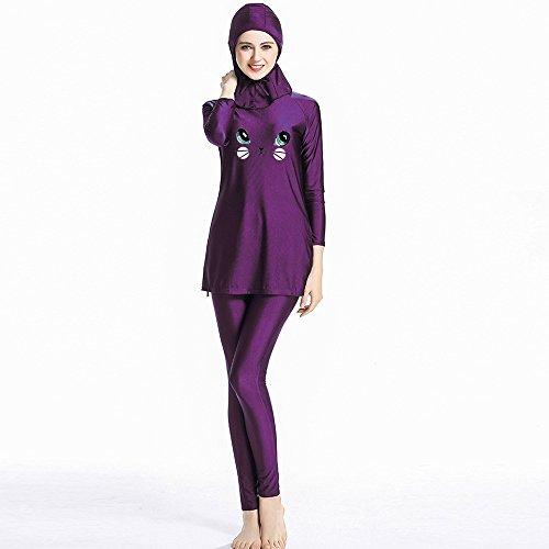 Ganzkörper islamischer Badeanzug im Burkini Stil muslimischer Schwimmanzug Hijab