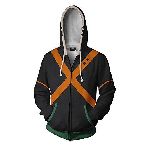 NJunicorn Uncle Boku no Hero Zip Up Hoodie Sweatshirt My Hero Academia Cosplay All Might Character Kostüm Unisex Jacke Kapuzenpullover (Art G, ()