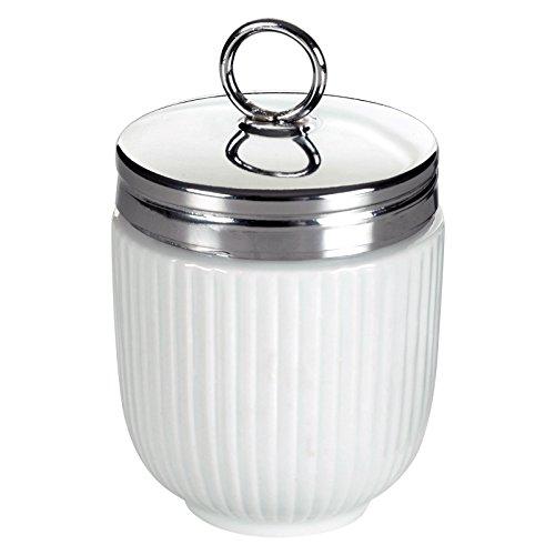 BIA-Portauovo grande, scanalata, colore: bianco - Prosciutto Affumicato