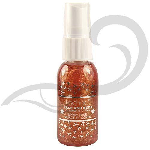 Technic Face & Body Glitter Shimmer Spray (Orange) by Technic (Body Glitter Spray)