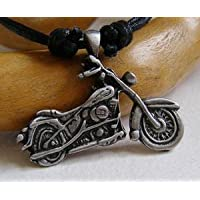 Peltro Biker ciondolo su collana, Moto, Easy Rider