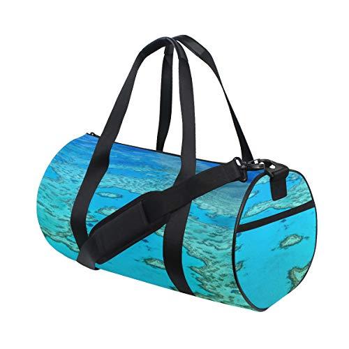 Australien Great Barrier Reef Coral Benutzerdefinierte Multi Leichte Große Yoga Gym Totes Handtasche Reise Canvas Seesäcke mit Schulter Crossbody Fitness Sport Gepäck für Jungen Mädchen Herren Damen