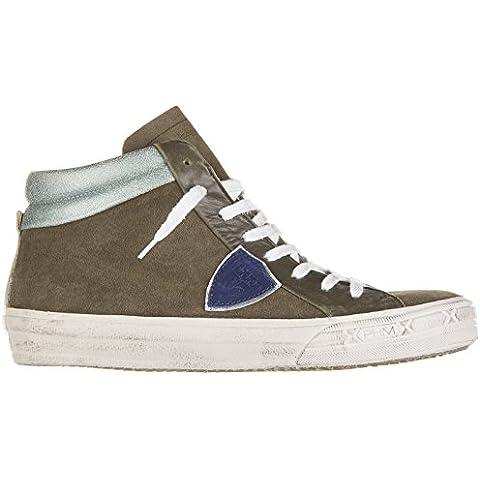 Philippe Model zapatos zapatillas de deporte largas hombres en ante nuevo middle