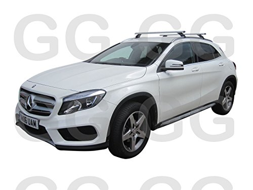 Rail en aluminium AERO toit Barres verrouillable Mercedes GLA à partir de 2014-