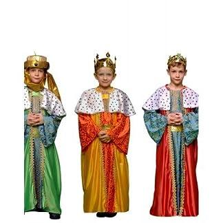 Disfraz de Rey Mago Verde Infantil Navidad