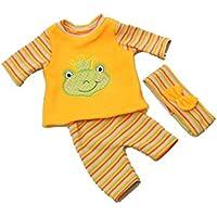Handarbeit Puppenkleidung 43 cm kleiner Frosch passend für zb Baby Born Bekleidung Kleidung 32
