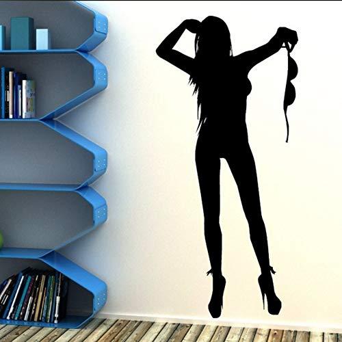 Fushoulu Göttin Wandkunst Mit Vinyl-Oberfläche Aufkleber Silhouette Szene Frau Stehend Auf Schwarzen Wandgemälde Wandgemälde