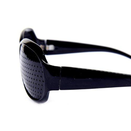 FreshGadgetz Set de 1 Vision Care Oftalmología Mejorar Glasses Pinhole ejercicio de los ojos Gafas Unisex