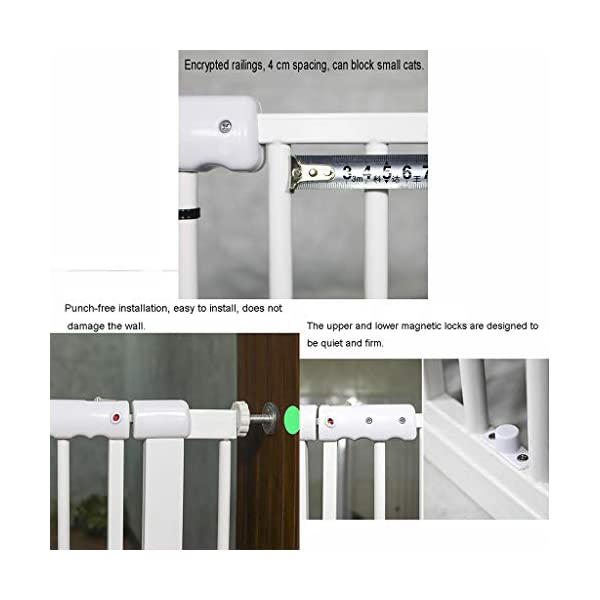Child Safety Gate Pet Gate Punch-Free Automatic Locking Stairs Fence Small Pets Isolation Gate Door Width 71-180CM High 100CM (Size : 174-180CM) Hongsemenlan In order to allow you to buy a doorbar that better suits your needs, please measure your specific size when ordering, then contact our customer service or send us an email to tell us your size. We will customize a suitable fence for you. Features: Punch-free installation, easy to install, does not damage the wall. 90 ° of one side open, two-way door, normally open may be greater than 90 °. Double lock to prevent children mistakenly opened, magnetic locks, automatic door, 52CM free access to the channel. 3