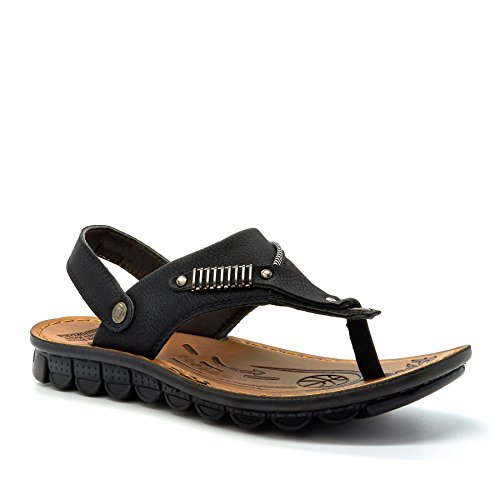 London Footwear ,  Herren Knöchel-Riemchen Schwarz