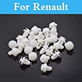 Fastener & Clip 50 piezas Auto Bumpers Hole plástico Push tornillo remache puerta para Renault Clio