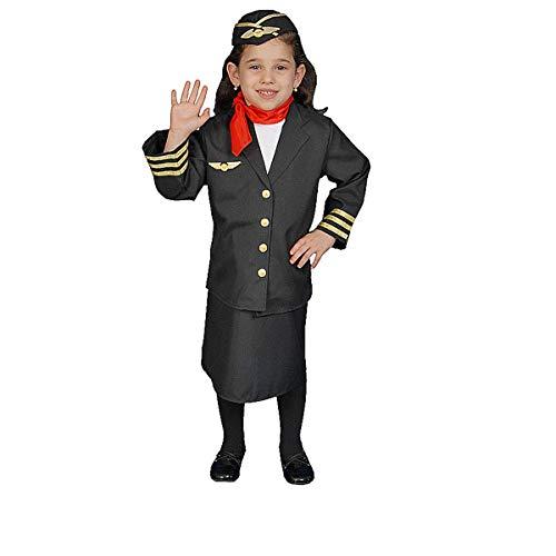 Dress Up America Mädchen Flugbegleiterin Kostüm (Stewardessen Kostüm)