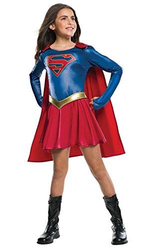 Rubie 's Offizielles Supergirl-Kostüm für Kinder, 147cm, Größe L, 8/10Jahre (Supergirl Superhelden Kostüm)