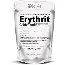 Erythrit Pure feinkörnig, hohe Reinheit (99,5 %) in einer wiederverschließbaren Verpackung (1000g)