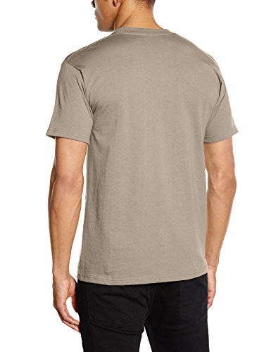 Fruit Of The Loom 61044 Mens Short Sleeve Super Premium T-Shirt Tee Beige (Khaki)