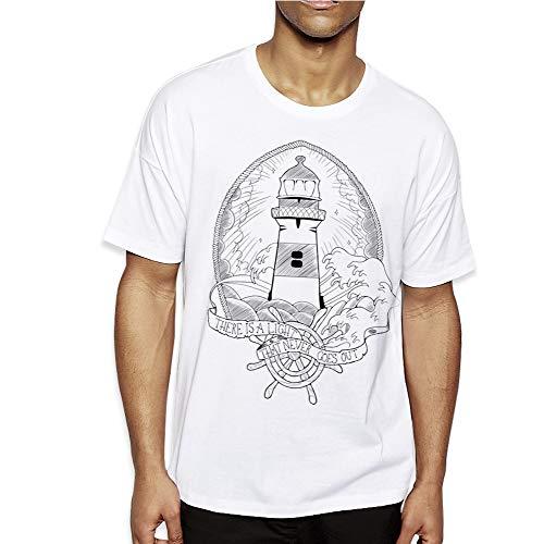VIENTO Lighthouse Herren T-Shirt (S, Weiß)