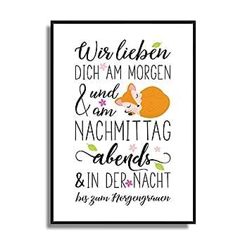 Kinder-Zimmer Poster Kunstdruck KLEINER FUCHS Fine-Art Print für Mädchen Jungen