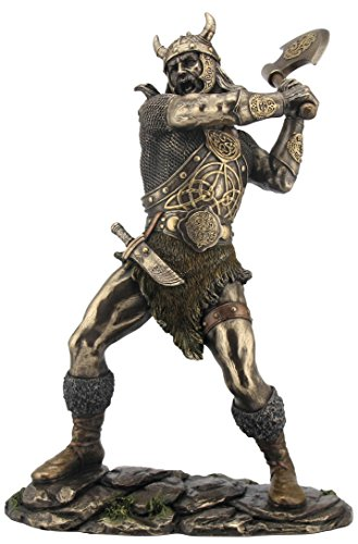 shirtmachine Vikingo Figura Decorativa Bronce 29cm