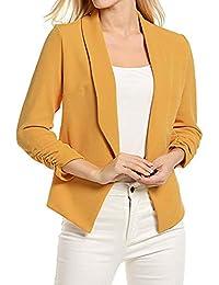 3/4 Ärmel Blazer Jacke Damen Lässige Mode Kurze Strickjacke Anzugjacke