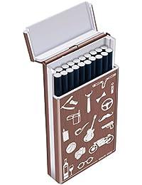 PADGENE Etui à Cigarette Femme Boîte Porte 20 Cigares Slim Rangement de Cigarettes en Aluminium Cadeau Noël (Rose Rouge)