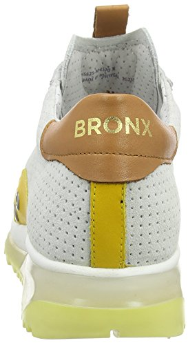 Bronx Brodax, Baskets Basses femme Mehrfarbig (1570 White/tan/dark lime)