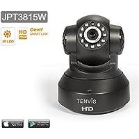 Tenvis JPT3815W Caméra de surveillance HD 1280x720p H264 IP Wifi sans fil - Application téléphone & Notice en français - Détection mouvement Alerte - Vision Nocturne - Son bidirectionnel - Motorisée