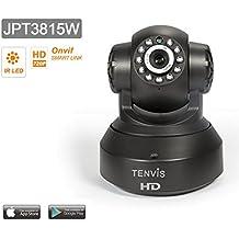 Tenvis JPT3815W IP Videocamera di Sorveglianza HD H264 720p - Motorizzato - senza fili - Visione notturna - App/manuale in italiano - Facile istituito - Rilevatore di Movimenti e Audio bidirezionale