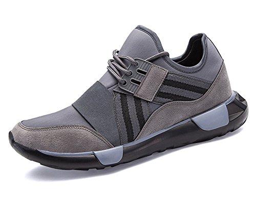 Neoker Sport Baskets Basse Basketball Sneakers Casual Respirant Running Chaussures De Course Bleu Vert Gris 39-45 Gris-1