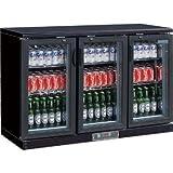 Winware Triple Hinged Door Bar Display Bottle Cooler