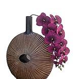 Unbekannt Orchideenzweig 106 cm XXL bordo Seidenblumen Kunstblumen künstliche Orchidee wie echt