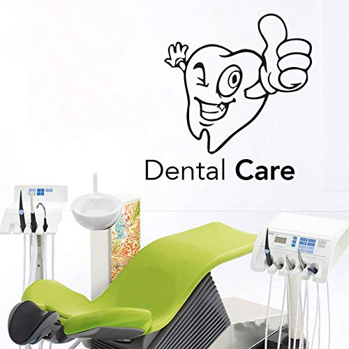 57x57cm Dental Care Vinyl Sticker For Stomatology Cartoon Tooth Dental Clinic Wall Decal Dentist Teeth Clinic Removable Tooth Decor (Kinder-spielzimmer Decals)
