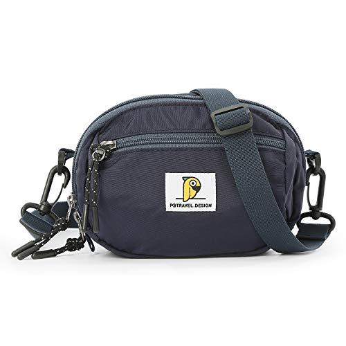 FANDARE Sac Bandoulière Sacoche Crossbody Messenger Bag Sac d'épaule Briefcase Hommes Femmes Mini Sac de Sport Travail Ecole Cartable Garçon Fille Imperméable Nylon Bleu