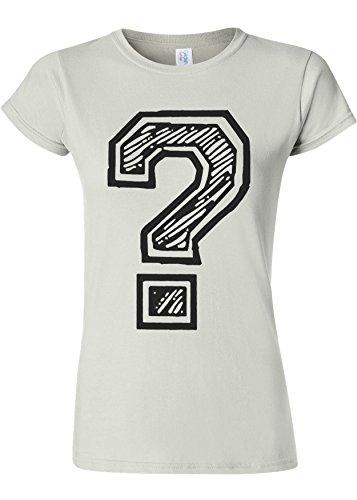 Question Mark Geek Novelty White Women Damen Top T-shirt Verschiedene Farben **Weiß