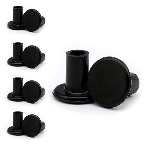 Andux Frauen-Dame High-heeled Schutz Verschleißfeste Abdeckungen Schuhe Pflege Produkt / Absatzsptuze--GGXT-02 ( Schwarz, 5 Paare)