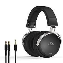 Soundmagic HP1000 Kopfhörer, Over Ear Faltbarer Headphones, geschlossenes Stereo Headset High-Fidelity-Ohrhörer die audiophilen Headsets Steckbares Kopfhörerkabel mit Geräuschunterdrückung, Schwarz