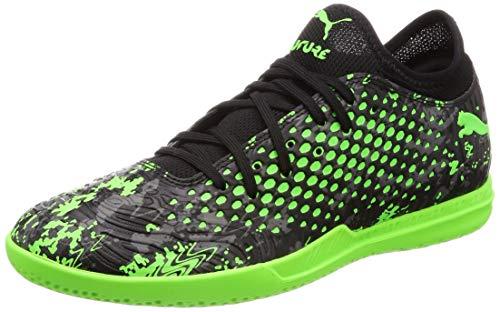 Puma Herren Future 19.4 IT Multisport Indoor Schuhe, Schwarz Black-Charcoal Gray-Green Gecko, 43 EU